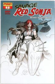 Savage Red Sonja #1 Frank Cho RRP Partial Sketch Variant Dynamite Entertainment comic book